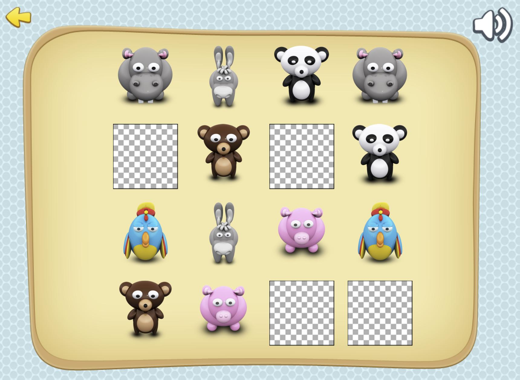 Animal Memory Flashcard Game.