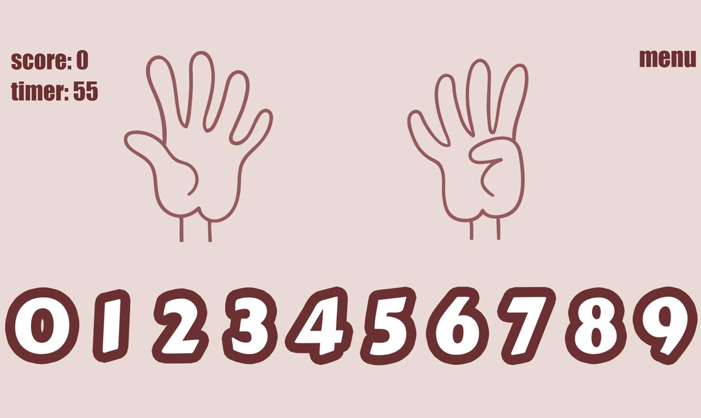 Count Fingers.