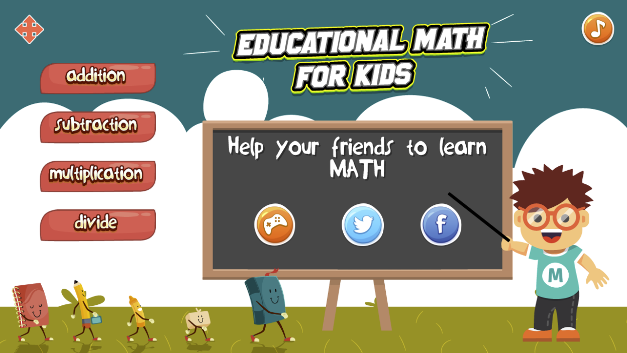 Educational Math Game for Kids.