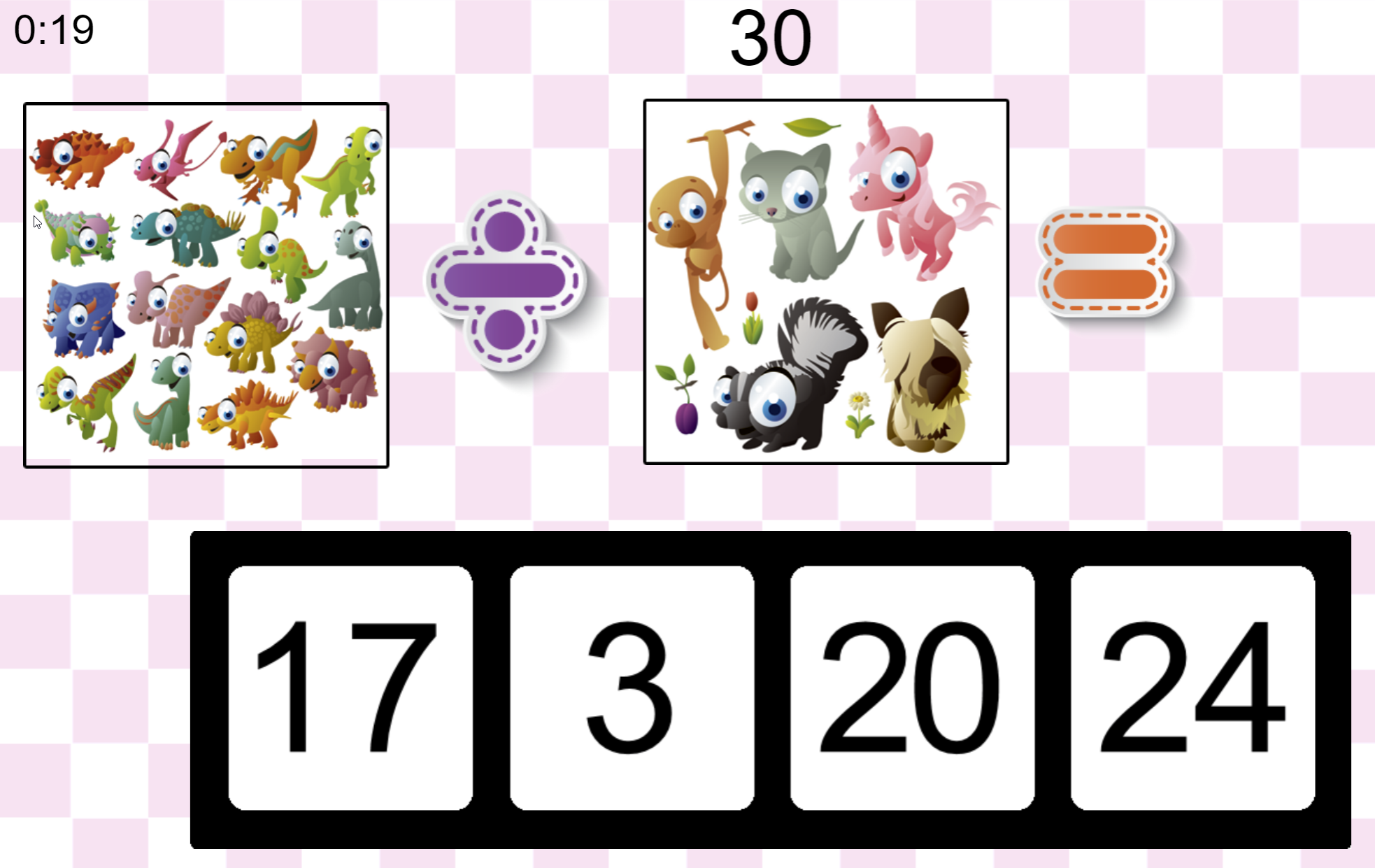 Math for Kids Game.