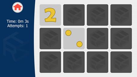 Memory Math Card Game.