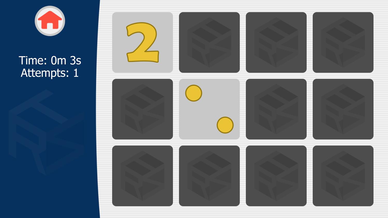 Memory Math Game.