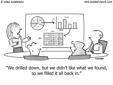 Accounting Strategy Cartoon.