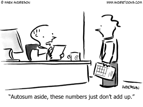 Autosum Cartoon.