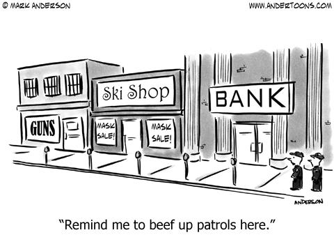 Bank Robber Cartoon.