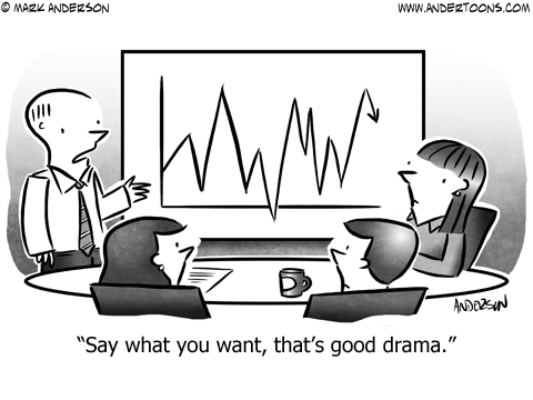 Business Drama Cartoon.