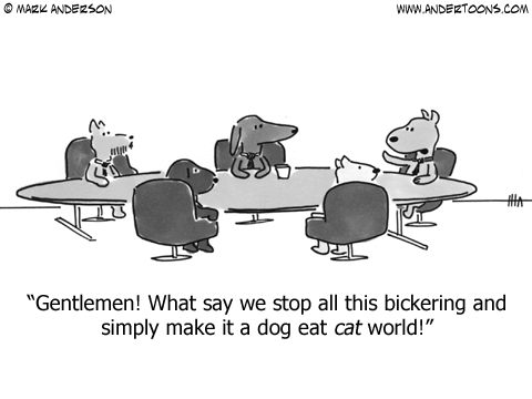 Dog Eat Dog World Cartoon.