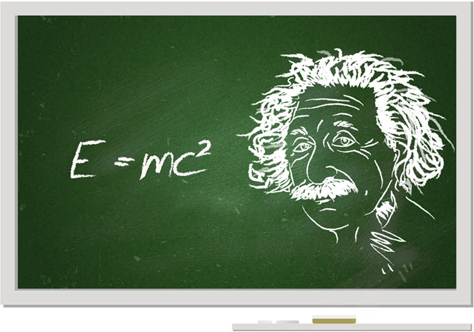 Albert Einstein and his famous equation E=mc2