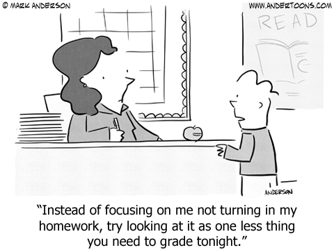 Homework Cartoon.