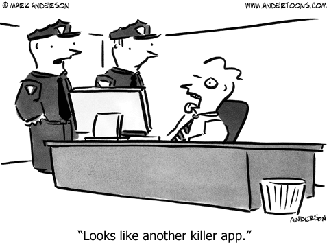 Killer App Cartoon.