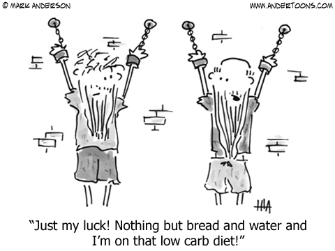 Low Carbohydrate Diet Cartoon.