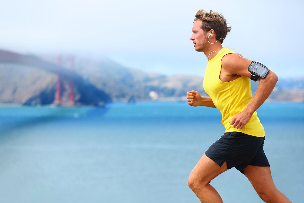 Man Running in Proper Form
