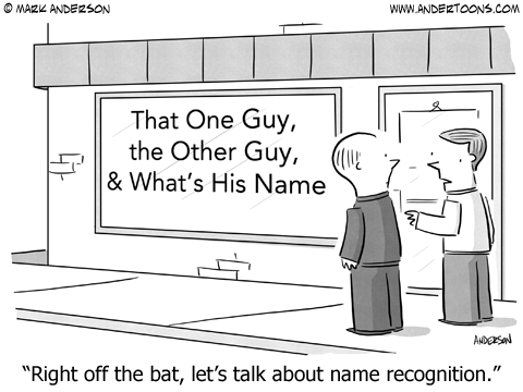 Name Recognition Cartoon.