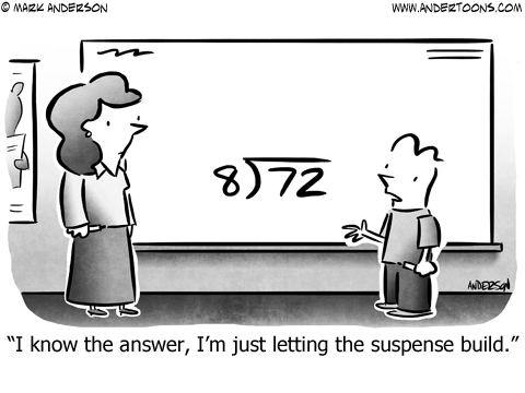Rule of 72 Division Cartoon.