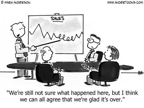 Weird Sales Chart Cartoon.