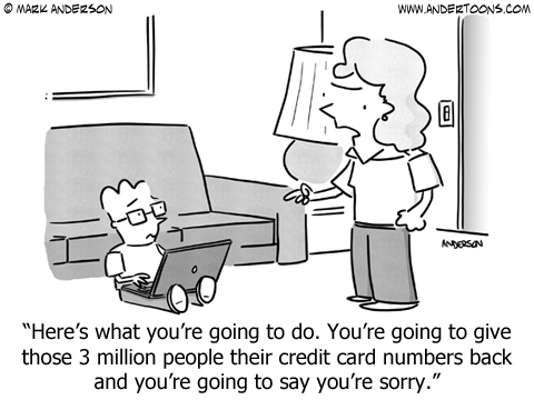 Security Breach Cartoon.