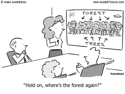 See the Forest for the Trees.