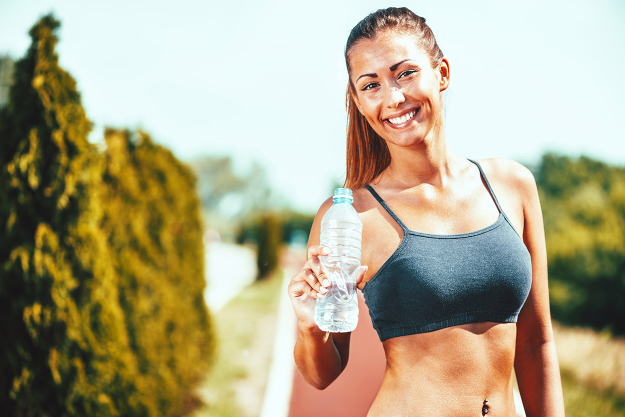 Smiling Woman After A Workout