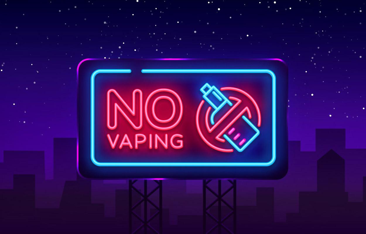 Stop vaping sign