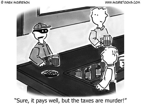 Taxes Cartoon.