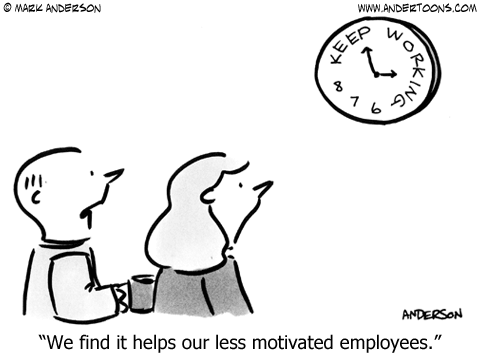 Time for Work Cartoon.