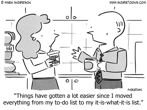 To Do List Cartoon.