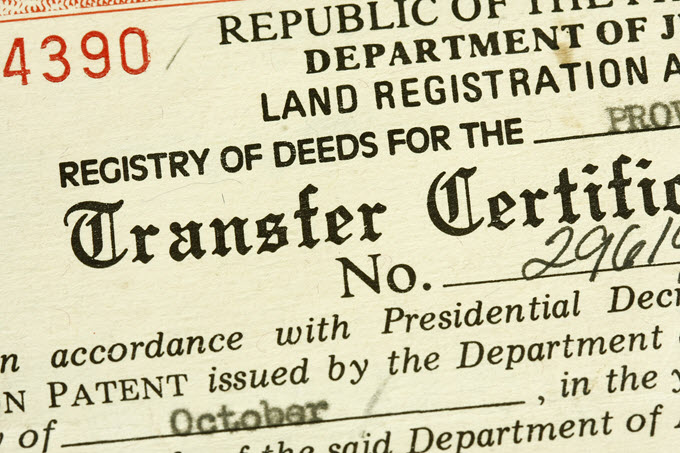 Real Estate Transfer Certificate.