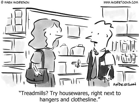 Treadmill Cartoon.