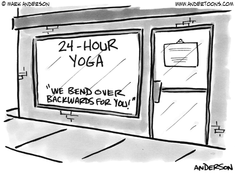Yoga Cartoon.
