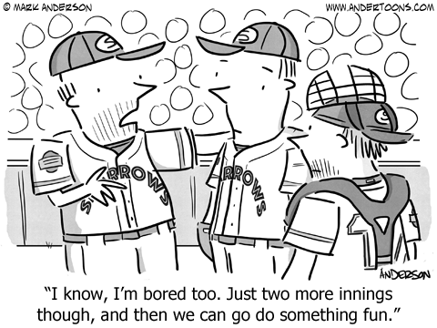 Baseball Cartoon.