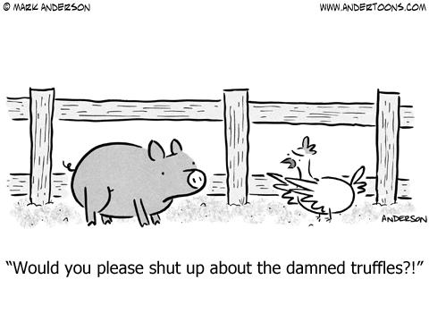Pig Seeking Truffles.
